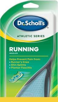 Photo of Dr. Scholl's Athletic Series Running Insoles packaging